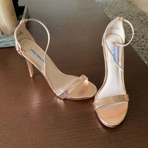 Steve Madden rose gold ankle strap heels STECY 8